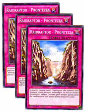 Set 3X RAIDRAPTOR PRONTEZZA Readiness SECE-IT070 Comune in Italiano YUGIOH