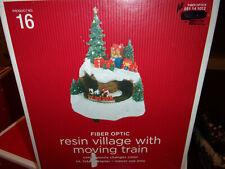 Target Fiber Optic Resin Village with moving train Nib