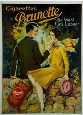 Original Plakat - Cigarettes Brunette