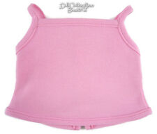 """Pink Tank Top fits 18"""" American Girl Doll Clothes Sew Beautiful Snap Closure"""