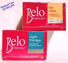 2 Belo Essentials Day Cover & Night Therapy Whitening Vitamin Face Cream Spf15