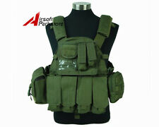 Tactical Molle 1000D Plate Carrier Combat Vest Military Hunting Airsoft Olive OD