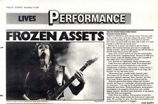 14/11/87pg36 Live Review & Picture, Celtic Frost/kreator/virus - Hammersmith Ode