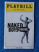 Naked Boys Singing! - New World Stages Playbill w/Ticket - September 8th, 2011