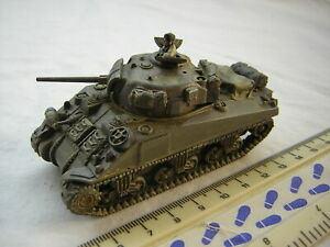 Built Plastic Soldier Company WW2 American Military Sherman M4 Tank Scale 1:72