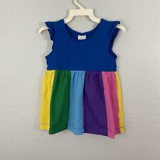 Hanna Andersson Rainbow Tank Dress Turquoise Navy Size 110 cm 5 Us