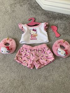 Build A Bear Bundle - Hello Kitty Outfit - Top, Shorts, Slippers + Comb