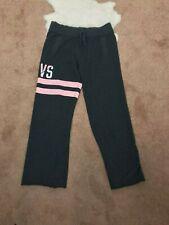 Victoria's Secret Woman Sweat Pant Sz XS L27 Activewear Cut Off Gray Pink