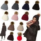 POM-POM Knit Slouchy Baggy Beanie Oversize Winter Warm Hat Ski Cap Skull Women