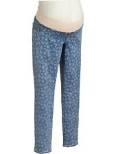 OLD NAVY MATERNITY WOMENS NWT FLORAL DENIM/JEAN PANTS--SZ. 6--SHIPS FREE