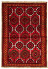 """Vintage Hand-Knotted Carpet 3'5"""" x 4'11"""" Traditional Oriental Wool Area Rug"""