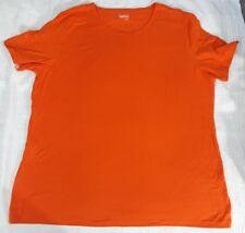Basic Editions Women's ORANGE XL NWOT Short Sleeve Shirt  Cotton