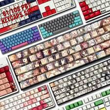 PBT Keycaps Set OEM Dye-Sub Joker Ahegao Anime Waifu For MX Machanical Keyboards