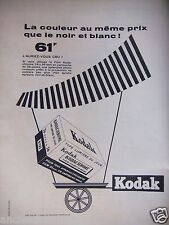 1956 ad kodak color the same price as the black and white-advertising