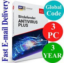 Bitdefender Antivirus Plus 3 PC / 3 Year (Unique Global Activation Code) 2020
