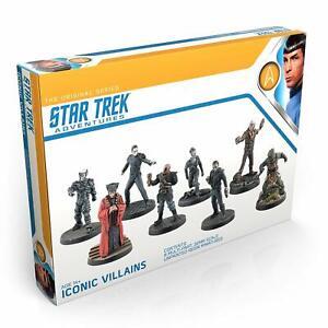 Star Trek Adventures Iconic Villains set 32mm miniatures unpainted rpg khan Q Z