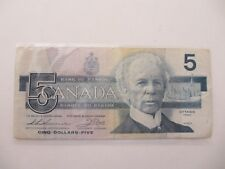 Canadian 1986 $5 Dollar Circulated Note Bill