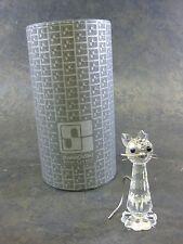 Swarovski Silver Crystal Cat Figurine # 7634NR070 With Box