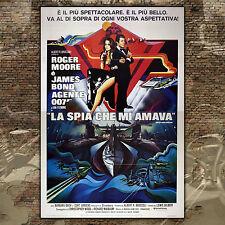 Original Poster 007 James Bond La Spia Che Mi Amava - 140x200 CM - Roger Moore