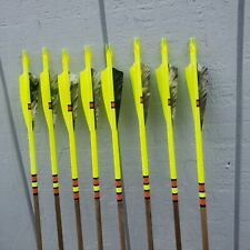 Eight poplar wood broadhead arrows 45#-49#