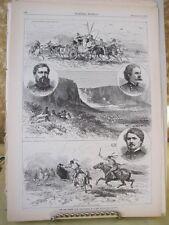 Vintage Print,NEZ PERCES WAR#3,Native American,Harpers,Nov 1871