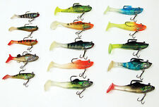 15 ASSORTITI Shads PLASTICA MORBIDA SOFT BAITS. Ideale Per Pike, Zander, Perch & Chub.