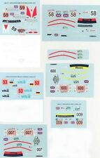 LOT DECALS 1/43 ASTON MARTIN DBR9 LE MANS Part 1 - COLORADO  DCV027