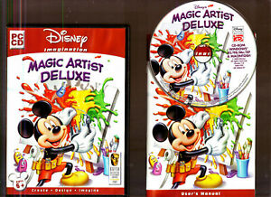 DISNEY'S MAGIC ARTIST DELUXE. SUPERB ARTISTS SOFTWARE FOR AGES 6+ ON THE PC!!