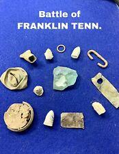 Battle Of Franklin Tennessee-dug Battle Relics.