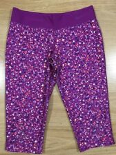 Nike Dri Fit Capri Pants Girls Size Small Purple