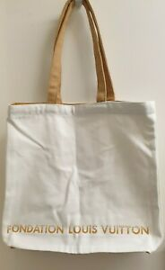 Louis Vuitton Foundation Museum limited Foundation LV Tote BAG/white/cream