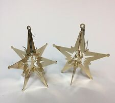 Lot of 2 VTG 1979 Lillian Vernon Lillikins Starburst Angel Ornaments 3-D Star