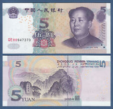 China 5 yuans 2005 UNC p. 903