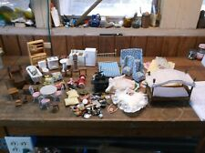 LARGE COLLECTION OF DOLLHOUSE FURNITURE AND ACCESSORIES