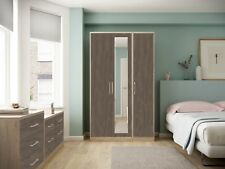 Ready Assembled Melrose Dark Oak Wardrobe Drawers Complete Bedroom Furniture Set