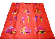 200X50CM TIBETAN GOOD LUCK RED HADA KHATA SCARF: NEW EDITION OF RAINBOW COLOR =