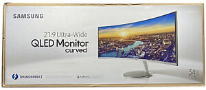 SAMSUNG LC34J791WTNXZA 34-Inch CJ791 Ultrawide Curved Business Monitor - White
