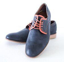 Men's Ferro Aldo Lace Up Two Tone Blue Round Toe Derby Oxfords Dress Shoes  6.5M