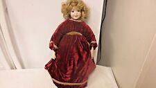 """1996 SFBT Paris #236 Reproduction Porcelain Victorian 15"""" Doll-Cloth Body"""