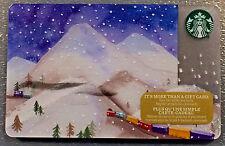 2016 Starbucks Canada HOLIDAY SNOWY MOUNTAINS collectible Gift Card FR/EN