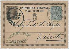 ITALIA REGNO:  storia postale - INTERO POSTALE 1877 : Dieci Centesimi - BELLO!