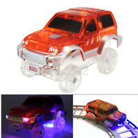 LED Electric Car Toy For Magic Race Track Flashing Light Educational Kids Gift