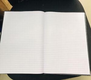 3 X A4 Lined Notebook Hardback Books