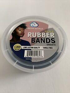 "Dream World Black Rubber Bands 1000pc Dre 2016 1"" Small Rubber Bands"