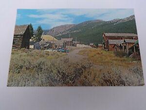 Autos Elkhorn Montana Ghost Town Postcard Mining Town Lauretta