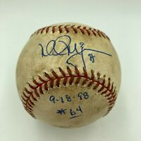 Historic Mark Mcgwire Signed 64th Home Run Game Used Baseball 9-18-1998 JSA COA