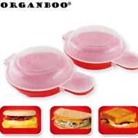 Egg Omelet Hamburg Maker Microwave Cooker Cheese Easy Cookware Bacon ToolEggwich