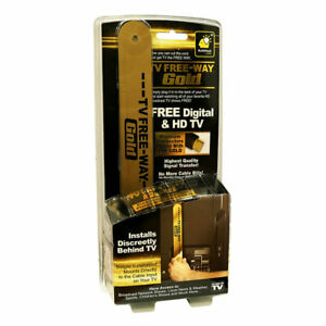 Official As Seen on TV TV Free-Way Gold—TV Antenna with Gold Connectors for