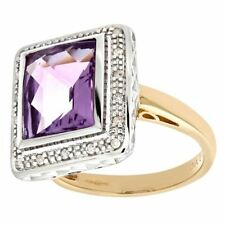 Amethyst Good Cut I1 Fine Diamond Rings