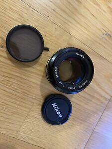 [ Near Mint +++ ] Nikon Ai Nikkor 50mm F/1.4 Standard MF Lens from JAPAN